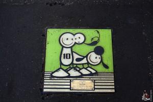 Milano, tombini Art